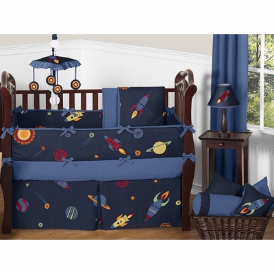 Space Galaxy Crib Bedding Collection