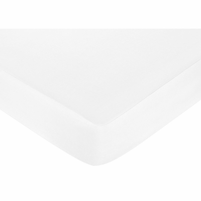 Standard Crib and Toddler Sheet - Solid White Brushed Microfiber