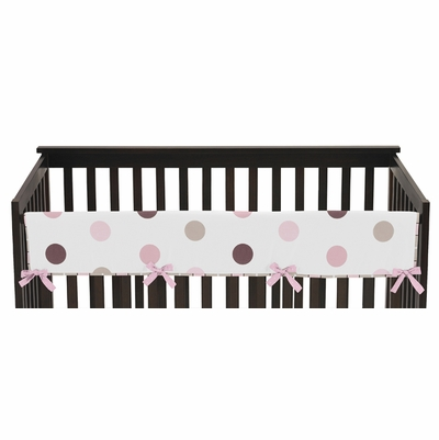 Mod Dots Pink Collection Long Rail Guard Cover