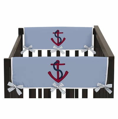 Come Sail Away Collection Side Rail Guard Covers - Set of 2