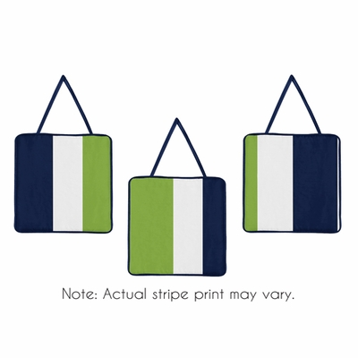 Stripe Navy and Lime Collection Wall Hangings