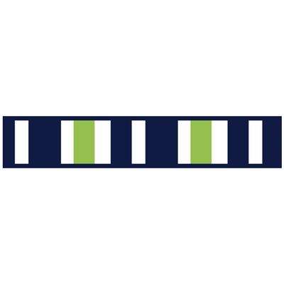 Stripe Navy and Lime Collection Wallpaper Border