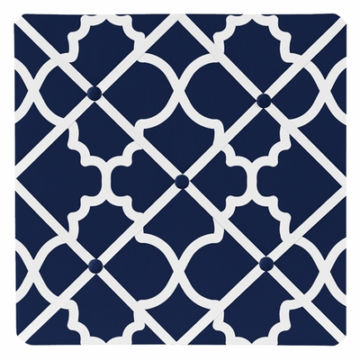 Trellis Navy Blue and White Collection Fabric Memo Board