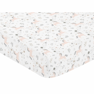 Unicorn Collection Crib Sheet - Unicorn Print