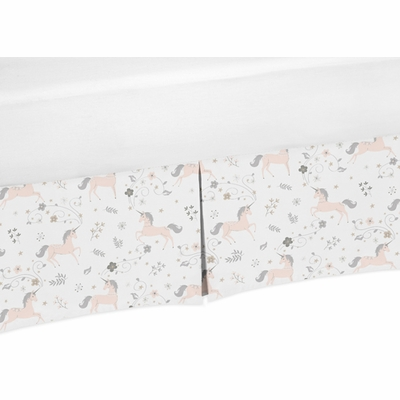 Unicorn Collection Toddler Bed Skirt
