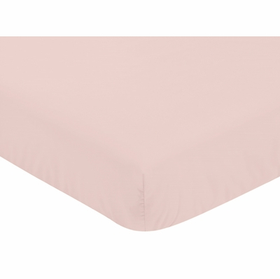 Watercolor Floral Black and Pink Collection Crib Sheet - Solid Blush Pink