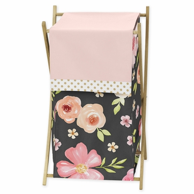 Watercolor Floral Black and Pink Collection Hamper