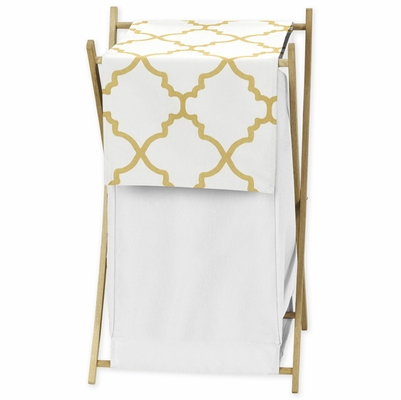 Trellis White and Gold Collection Hamper