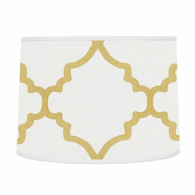 Trellis White and Gold Collection Lamp Shade
