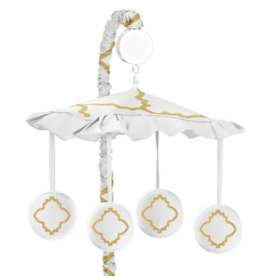 Trellis White and Gold Collection Musical Mobile