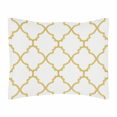 Trellis White and Gold Collection Pillow Sham