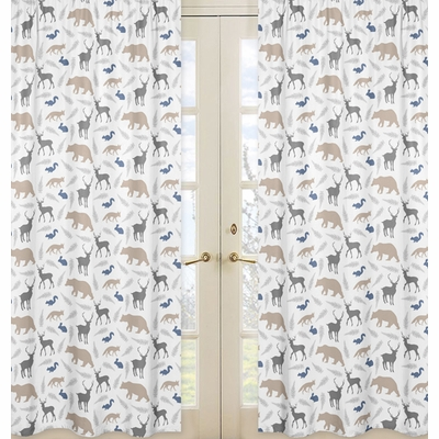 Woodland Animals Collection Window Panels - Set of 2