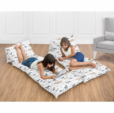 Woodland Animals Collection Animal Print Pillow Case Lounger