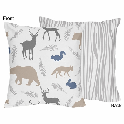 Woodland Animals Collection Decorative Accent Throw Pillow