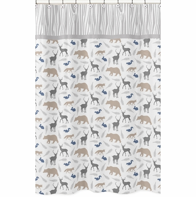 Woodland Animals Collection Shower Curtain