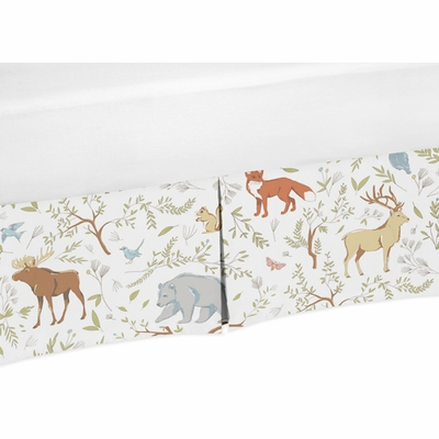 Woodland Toile Collection Crib Bed Skirt