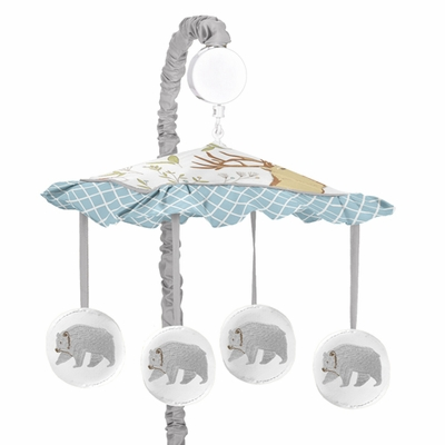 Woodland Toile Collection Musical Mobile