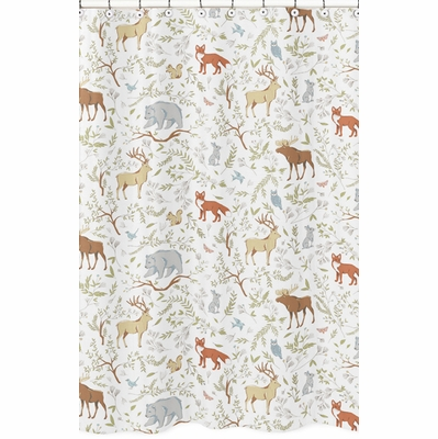 Woodland Toile Collection Shower Curtain