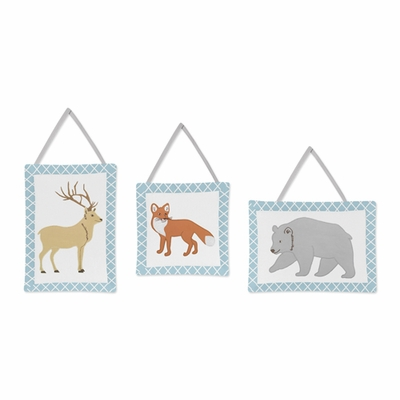 Woodland Toile Collection Wall Hangings