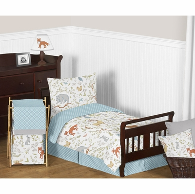 Woodland Toile Toddler Bedding Collection