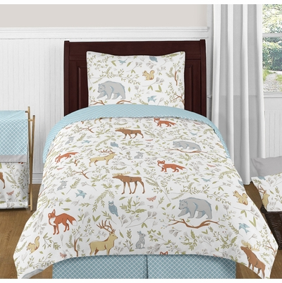 Woodland Toile Twin Bedding Collection