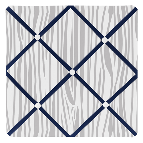 Woodsy Navy Mint And Grey Collection Fabric Memo Board