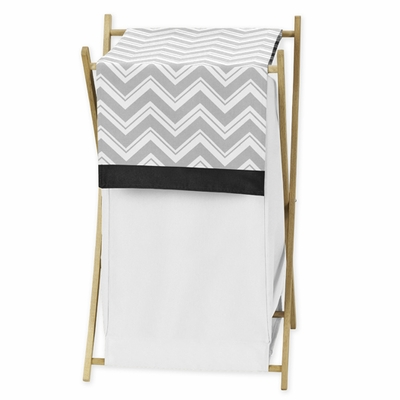 Zig Zag Black and Gray Chevron Hamper