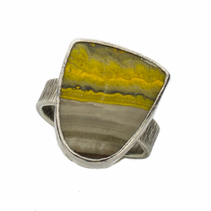 Bumble Bee Jasper Ring