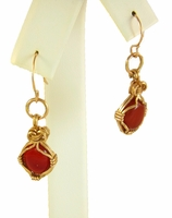 Carnelian and 14kt Rose Gold-Filled Earrings
