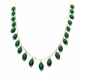 Malachite Necklace 24 Inches