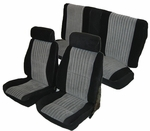 1982-1988 Buick Regal Coupe, Front Bucket Seats with Rear Bench and Head Rest Seat Upholstery Kit U2008S