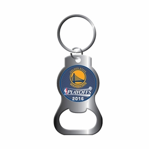 golden state warriors aminco 2016 nba playoffs bottle opener key chain. Black Bedroom Furniture Sets. Home Design Ideas
