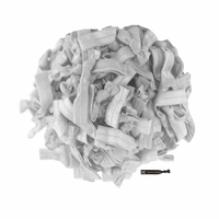 100 Pack Silver Hair Ties