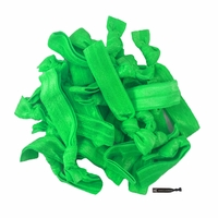 20 Pack Hair Ties Green