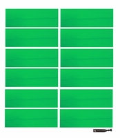 "3"" Cotton Headbads Green 12 Pack"