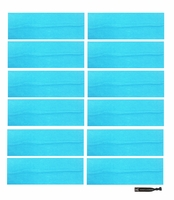 "3"" Cotton Headbands Teal 12 Pack"