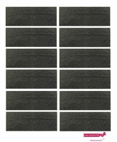 """3"""" Cotton Headbands Charcoal 12 Pack"""