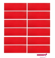 "3"" Cotton Headbands Red 12 Pack"