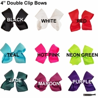 "4"" Double Clip Bows You Pick 10"