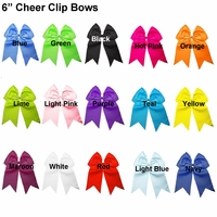 "6"" Cheer Clip Bows You Pick 10"