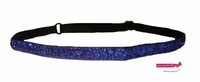 Adjustable Glitter Headband Blue