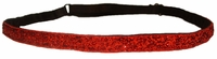 Adjustable Glitter Headbands Red