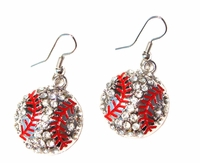 Baseball Dangle Earrings