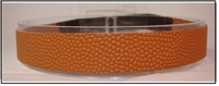 Basketball Headband Brown Real Leather