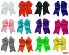 "7"" Big Hair Bows with Ponytail Holder 12 pack"