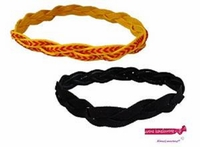 Braided Headbands 2 Pack 1 Softball Yellow/Red and 1 Black