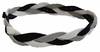 Braided Headband No Slip Gray Black White