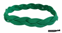 Braided Headband No Slip Grip Green