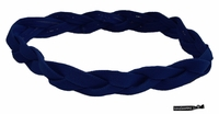Braided Headband No Slip Navy