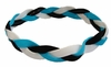 Braided Headband No Slip Teal White Black